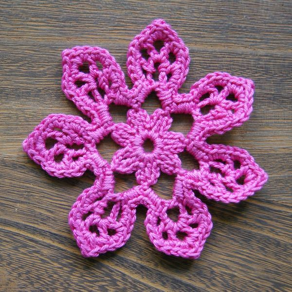 6ichthusfish Free Crochet Flower Pattern Tahiti Blossom