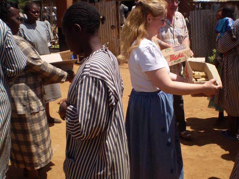 Giving soap at kak web
