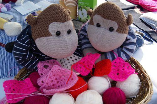 Monkeys crochet basket web