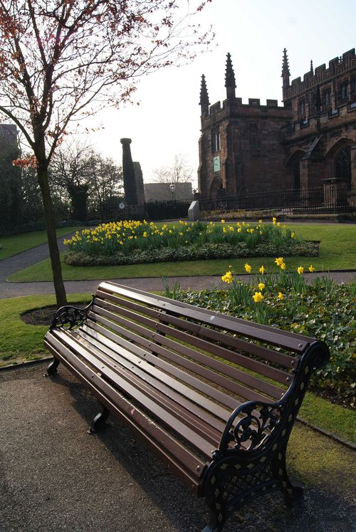Saint Peters Gardens bench Wolverhampton web