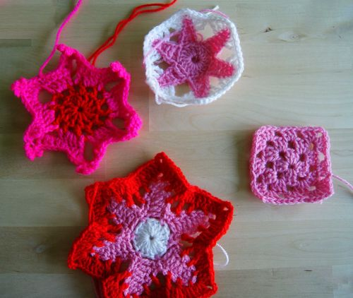 Crochet motifs for Park Your Yarn
