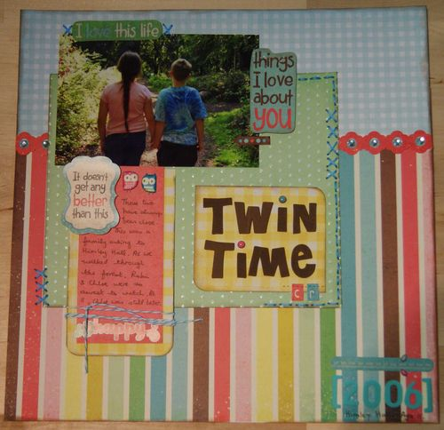 Twin Time Shimelle challenge 11 two patterns web