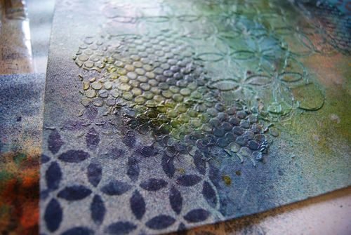 July 2012 Skissedilla masked textured background web