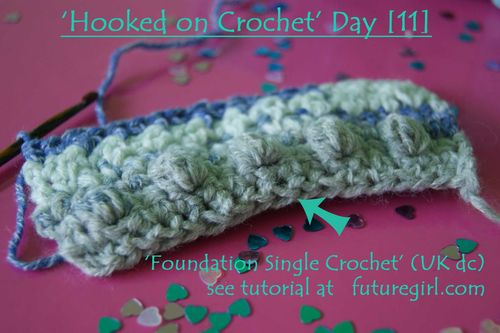 Hooked on Crochet Day 11 foundation sc web