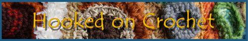 Web banner Hooked on crochet