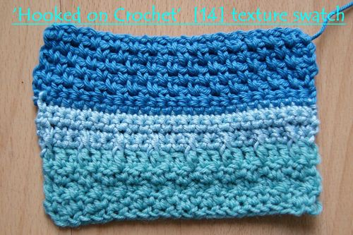 Hooked on crochet 14 texture swatch three blues web