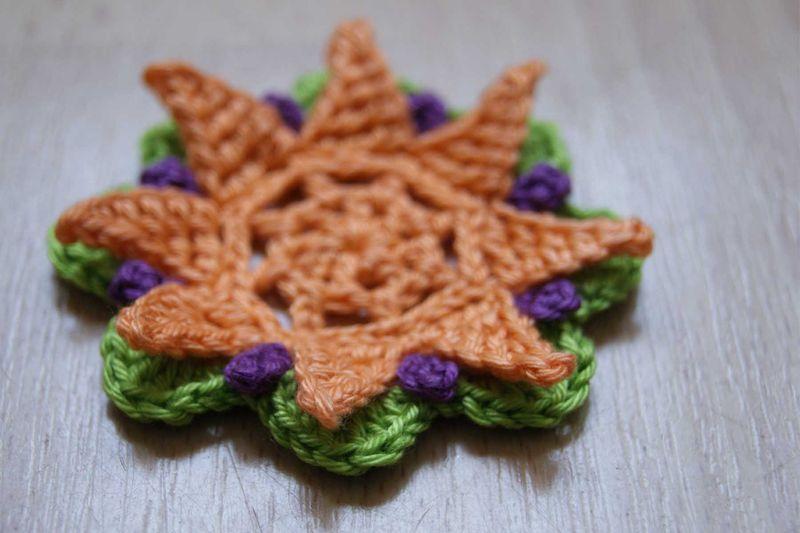 Stella crochet flower layers web