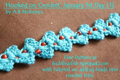 Crochet Chevron with added beads web