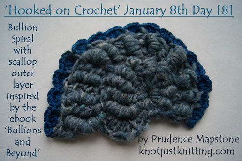 Bullion spiral crochet blue scallop Hooked on Crochet Day 8 web