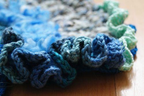 Hooked on crochet mushroom scrumble close up 2 web