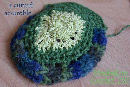 Hooked on Crochet curved scrumble crochet 19 web