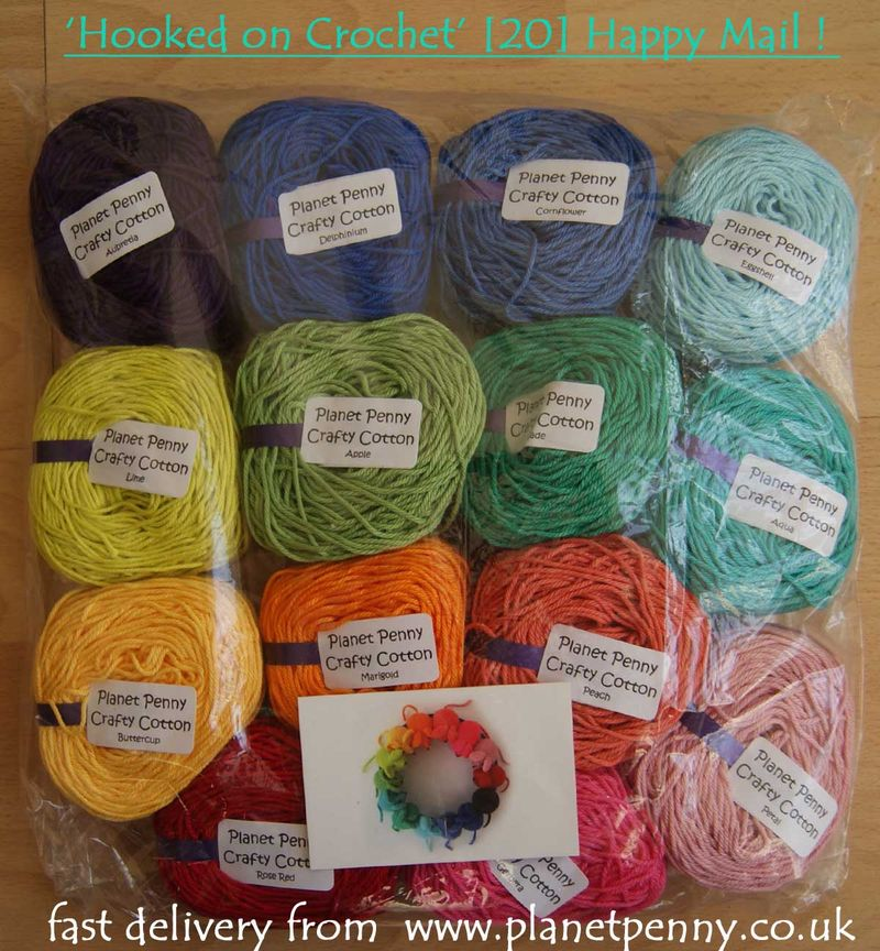 Happy mail cotton yarn from PLANET PENNY web