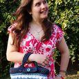 Crochet T-shirt yarn bag model web
