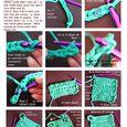 Crochet Potholder  Colour web